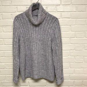 Banana Republic Knit Grey-Purple Turtleneck